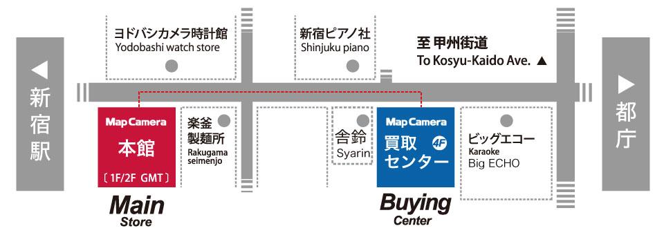 MapCameraカメラ買取センター地図