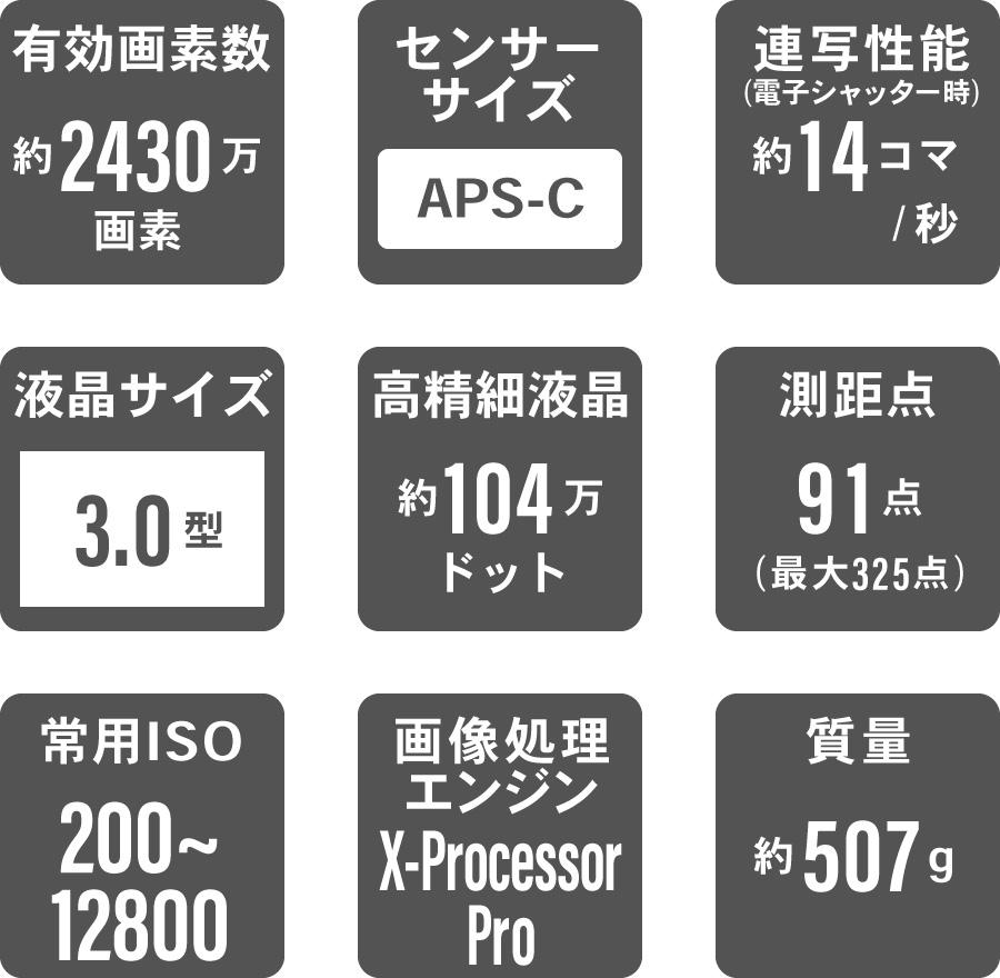 FUJIFILM (フジフイルム) X-T2 仕様