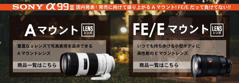SONY Aマウント・FE/Eマウント特集
