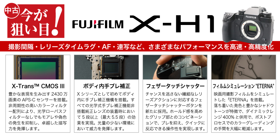 今が狙い目!FUJIFILM X-H1