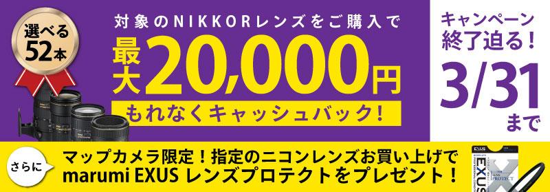 Nikonキャッシュバックキャンペーン終了迫る!