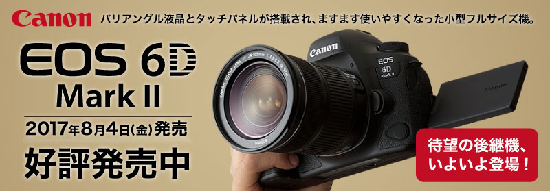 Canon EOS 6D MarkII 好評発売中