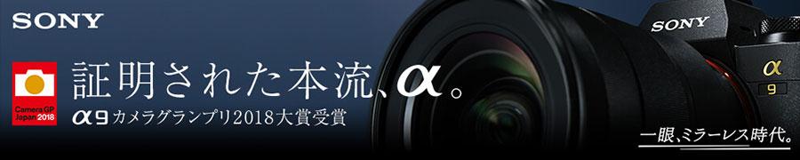 SONY α9 カメラグランプリ2018大賞受賞