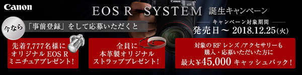 「EOS R SYSTEM 誕生キャンペーン
