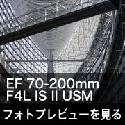 Canon EF 70-200mm F4L IS II USM フォトプレビューはこちら