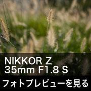 Nikon NIKKOR Z 35mm F1.8 S フォトプレビュー