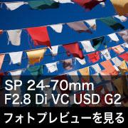TAMRON (タムロン) SP 24-70mm F2.8 Di VC USD G2フォトプレビュー
