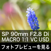 TAMRON SP 90mm F2.8 Di MACRO1:1 VC USD フォトプレビュー
