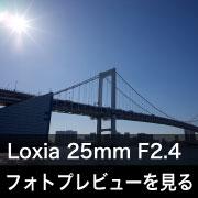 Carl Zeiss (カールツァイス)Loxia 25mm F2.4フォトプレビュー