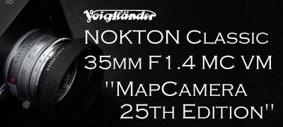 NOKTON Classic 35mm F1.4 MC VM MapCamera 25th Edition