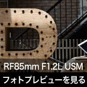 Canon RF85mm F1.2L USM フォトプレビューはこちら