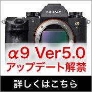 SONY α9 ファームウェアアップデート5.0