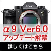 SONY α9 ファームウェアアップデート6.0