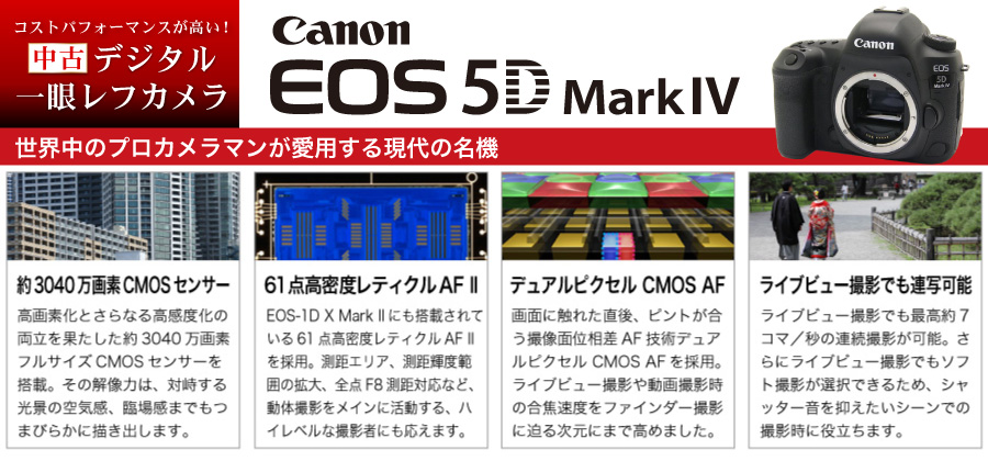 中古ピックアップ!Canon_5D MarkIV