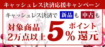 キャッシュレス決済 応援キャンペーン 新品も中古も全品ポイント5%還元