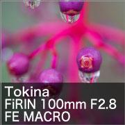 Tokina (トキナー) FiRIN 100mm F2.8 FE MACRO