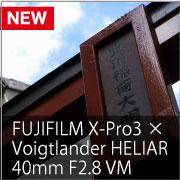 FUJIFILM X-Pro3 × Voigtlander HELIAR 40mm F2.8 VM