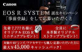 Canon EOS R SYSTEM 誕生キャンペーン
