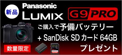 Panasonic G9Pro 特典付き