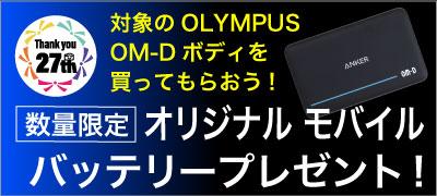 新品OLYMPUS数量限定オリジナルバッテリープレゼント