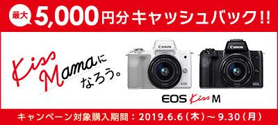 Canon Kiss Mama になろう。キャッシュバックキャンペーン 最大5,000円相当のVISAギフトカードプレゼント
