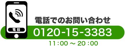 電話でのお問い合わせ 2010-15-3383