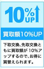 下取交換で買取見積額10%UP!