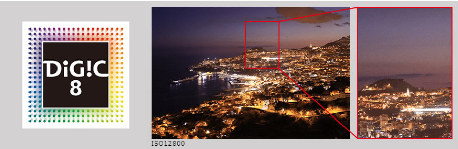 先進の画像処理性能、DIGIC 8
