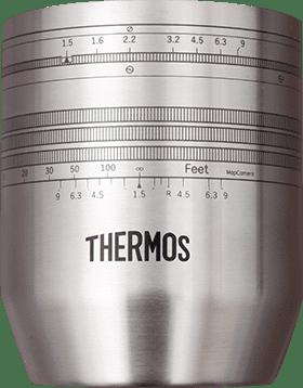 マップカメラオリジナル Leicaクセノンレンズデザイン THERMOSカッププレゼント!