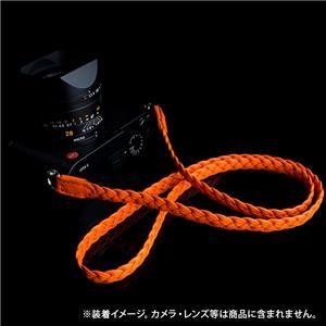ネックストラップ ANGELO PELLE BRAIDED NECK STRAP 123cm オレンジ