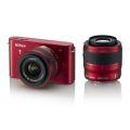 Nikon (ニコン) Nikon 1 J1 ダブルズームキット レッド