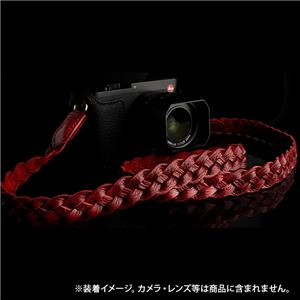 BRAIDED NECK STRAP WITH INNER  RED SUEDE レッド