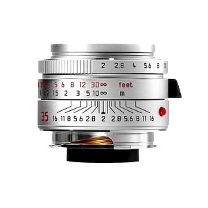 Leica (ライカ) ズミクロン M35mm F2.0 ASPH. (6bit) (フードはめ込み式) シルバー メイン