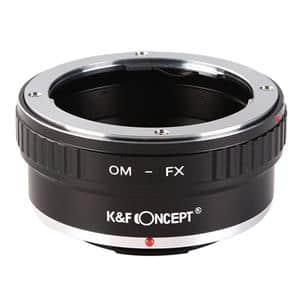 マウントアダプター オリンパスOMレンズ/フジフイルムXボディ用  KF-OMX