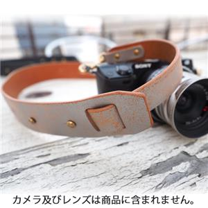 Crack Leather カメラストラップ シルバー シルバー
