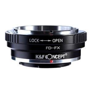 マウントアダプター キヤノンFDレンズ/フジフイルムXボディ用 絞りリング付  KF-FDX