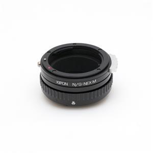 マウントアダプター ニコンF(G)レンズ/ソニーEボディ用 絞り/ヘリコイド付