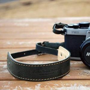 オイルレザーカメラストラップ フォレストグリーン
