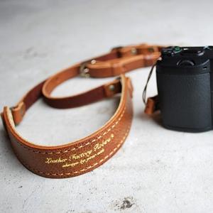 コンパクトカメラストラップ クラシックブラウン