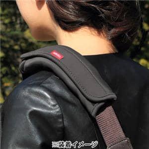 Japan Hobby Tool (ジャパンホビーツール) カメラバック用ショルダーパッド エアーセル ネオプレーン ブラック メイン