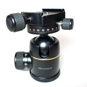38mm プレミアム ボールヘッド雲台 Pro Gold II Easy PQRS ブラック