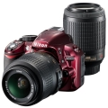 Nikon (ニコン) D3100 200mm ダブルズームキット レッド
