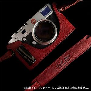 ハーフケース&ネックストラップ FOR LEICA M / M-P / M MONOCHROM TYP246 OPEN BACK DESIGN with Grip レッド