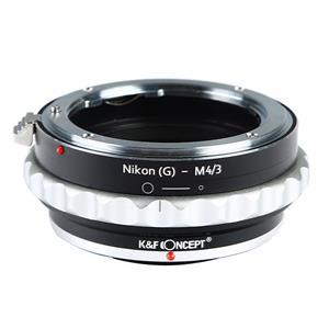 マウントアダプター ニコンF(G)レンズ/マイクロフォーサーズボディ用 絞り付  KF-NGM43