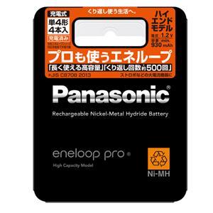 Panasonic (パナソニック) エネループ プロ 単4形電池4本 BK-4HCD/4 メイン