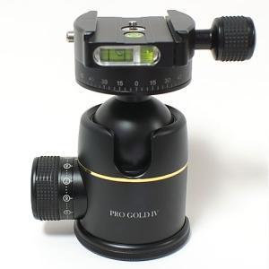 46mm プレミアム ボールヘッド雲台 Pro Gold IV Easy PQRS ブラック