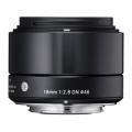 SIGMA (シグマ) A 19mm F2.8 DN (マイクロフォーサーズ用) ブラック