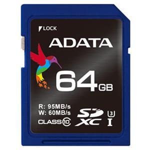 Premier Pro SDXCカード UHS-I U3 Class10 R/W:95/60 64GB ASDX64GUI3CL10-R