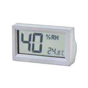 デジタル温湿度計 金具付 OP-AD-HD-GR グレー