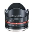 SAMYANG (サムヤン) 8mm F2.8 Fish-eye(ソニーEマウント用) ブラック